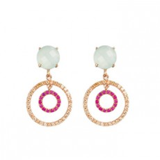 PENDIENTES SUNFIELD CIRCLE CALCEDONIA