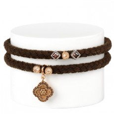 PULSERA SUNFIELD DOBLE CUERO