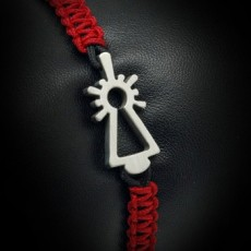 PULSERA VIRGEN NYLON GRANATE