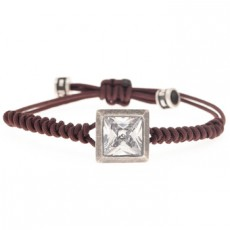 PULSERA SQUARE MARRON