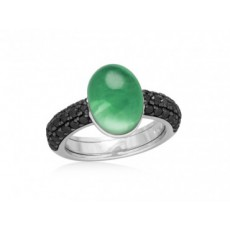 ANILLO DROP PAVE VERDE