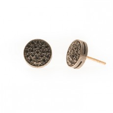 PENDIENTES BLACK BOTTON XL