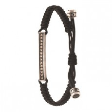PULSERA SLAVE NYLON DIAMONDS COÑAC