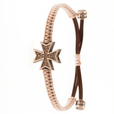 PULSERA MALTA DIAMOND BROWN