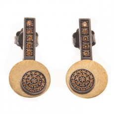 PENDIENTES BOTTON GOLD