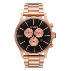 RELOJ NIXON SENTRY CHONO ROSE GOLD/BLACK