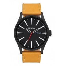 RELOJ NIXON SENTRY LEATHER GOLDENROD