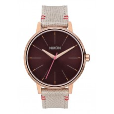 RELOJ NIXON KENSINGTON LEATHER ROSE GOLD