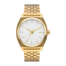 RELOJ NIXON TIME TELLER GOLD WHITE
