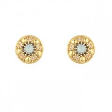 PENDIENTES SUNFIELD CALCEDONIA GOLD