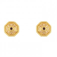 PENDIENTES SUNFIELD OCTOGONO GOLD