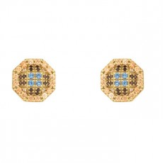 PENDIENTES SUNFIELD CRUZ GOLD