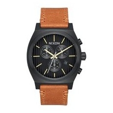 RELOJ NIXON TIME TELLER CHRONO LEATHER BLACK/STAMPED