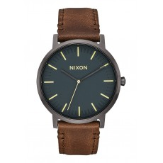 RELOJ NIXON PORTER LEATHER GUNMETAL/ SLATE BLUE TAU