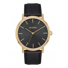 RELOJ NIXON PORTER LEATHER ALL BLACK/ GOLD