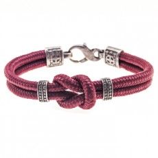 PULSERA SIMPLE KNOT GRANATE