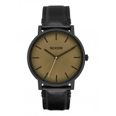 RELOJ NIXON PORTE LEATHER BLACK