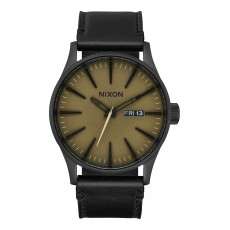RELOJ NIXON SENTRY LEATHER MATTE SAGE