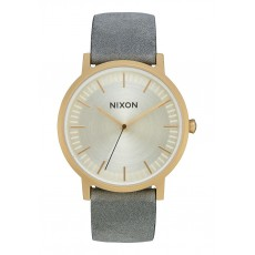 RELOJ NIXON PORTE LATHER ALL LIGHT GOLD/GREY