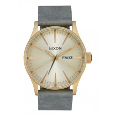 RELOJ NIXON SENTRY LEATHER ALL LIGHT GOLD/GREY