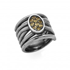 ANILLO BLACK DIAMOND OVAL