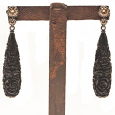 PENDIENTES BAROQUE LONG BLACK