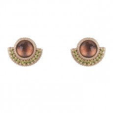 PENDIENTES SUNFIELD ÉVENTAIL ROSE
