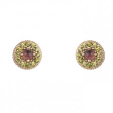 PENDIENTES SUNFIELD BOTTON ROSE