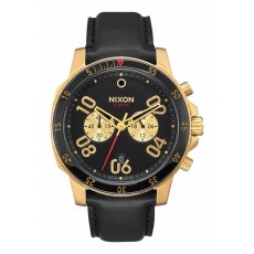 RELOJ NIXON RANGER CHRONO LEATHER GOLD
