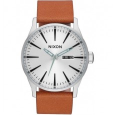 RELOJ NIXON SENTRY LEATHER SILVER & TAN