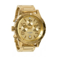RELOJ NIXON THE 48-20 CHRONO DORADO