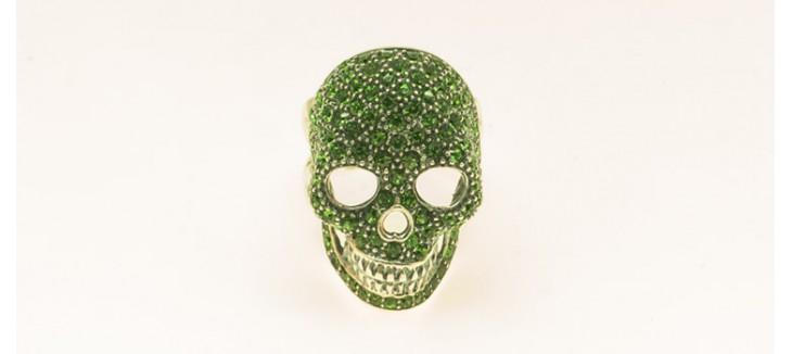 anillo-de-plata-y-swaroskis-verdes