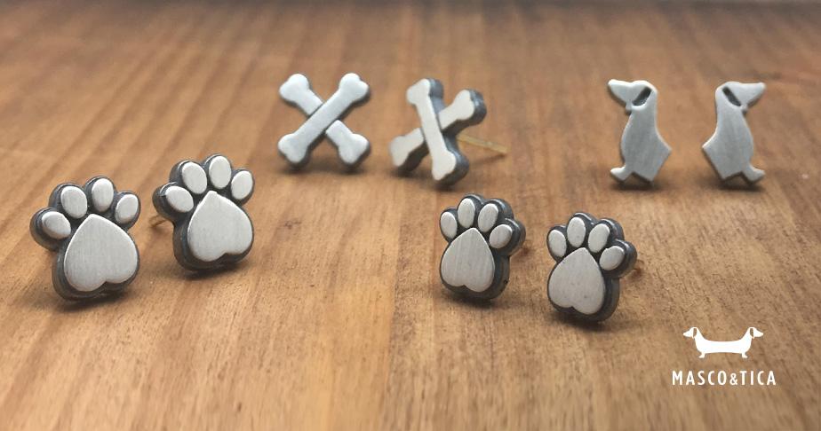 pendientes de plata de mascotas