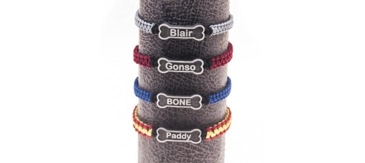pulseras con nombre de perro