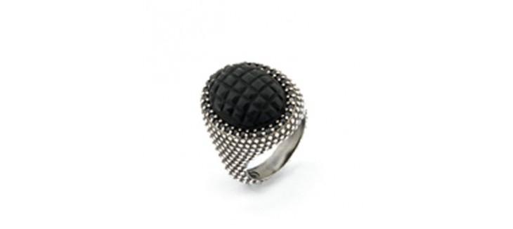 anillo piedra onix