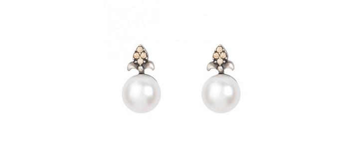 pendientes con perlas para regalar en navidad
