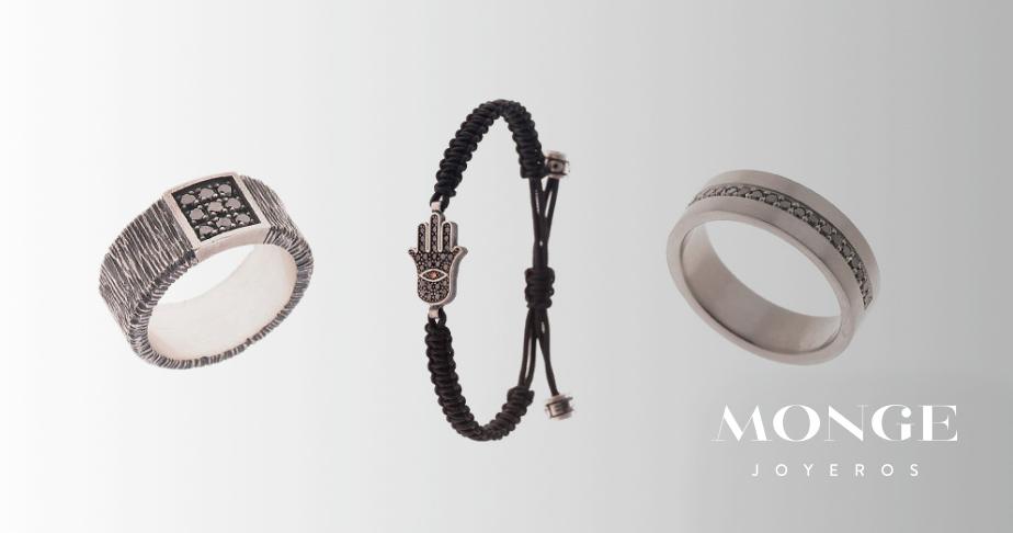joyas diamante negro y marron